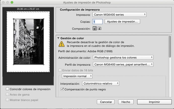 Usando el pefil ICC generado desde ColorMunki con Photoshop